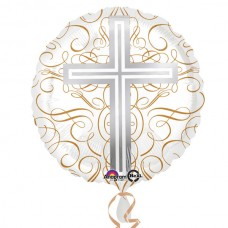 Elegant Cross Standard HX Foil Balloons without Helium Gas (available in shop for £1.00 extra)