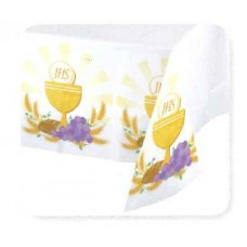 54 x 102 inch Border Print Plastic Table Cloth for First Holy Communion