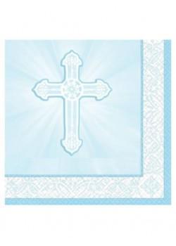 16x  Blue First Holy Communion Napkins