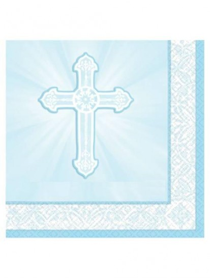 16x  Blue First Holy Communion Napkins...