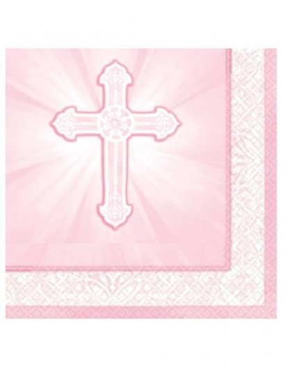16x Pink First Holy Communion Napkins...