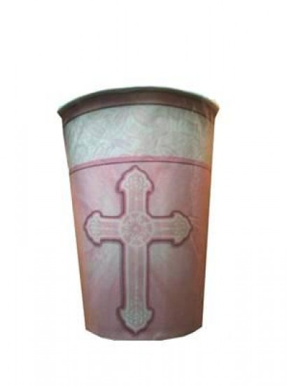 8x First Communion Cups in Pink (suitable for hot or cold drinks)...