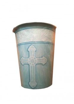 8x First Communion Cups in Blue (suitable for hot or cold drinks)