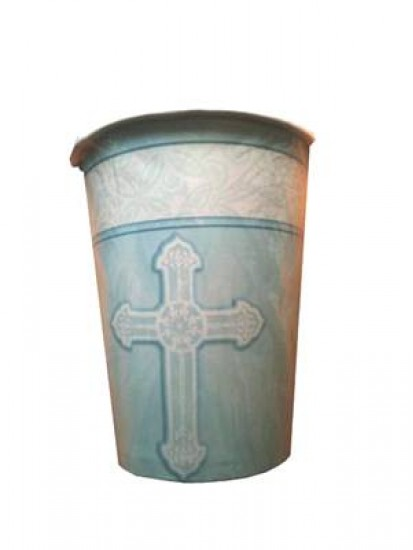 8x First Communion Cups in Blue (suitable for hot or cold drinks)...