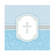 16x Blessing Blue Luncheon Napkins for First Communion