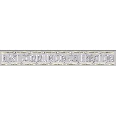 First Holy Communion Banner available in Silver ONLY