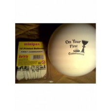 10 - 8' inch White First Holy Communion Balloons