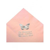 Pack of 50 Pink Personalised  First Holy Communion Serviettes: Ideal for First Holy Communion Party: Add a choice of your words e.g. Name of Child, Date and Church to make it very special!!! Available for Christening, Birthdays, Weddings and all Celebrati