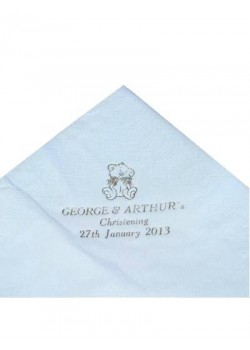 Pack of 50 Blue Personalised  First Holy Communion Serviettes