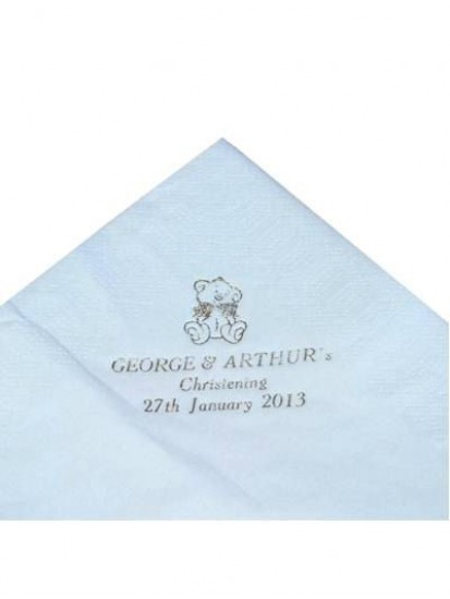 Pack of 50 Blue Personalised  First Holy Communion Serviettes...