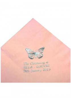 Pack of 50 Pink Personalised  First Holy Communion Serviettes