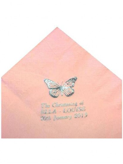 Pack of 50 Pink Personalised  First Holy Communion Serviettes...