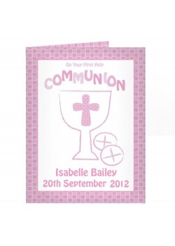 Personalised Communion Card Girl
