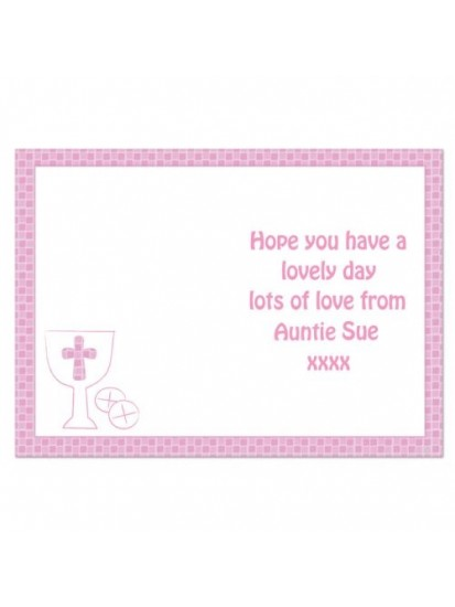 Personalised Communion Card Girl...