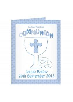Personalised Communion Card Boy