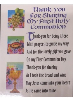 10x First Holy Communion Thank You Cards with envelopes