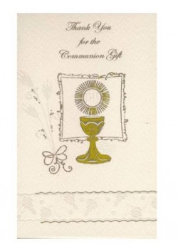 12 x Symbolic First Holy Communion Thank You Cards with envelopes