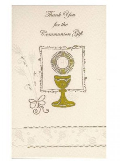 12x Symbolic First Holy Communion Thank You Cards with envelopes...