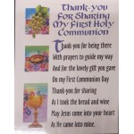 First Holy Communion Thank You Cards with envelopes - 10 in a pack