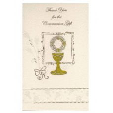 Symbolic First Holy Communion Thank You Cards with envelopes - 12 in a pack