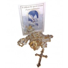 CON875 - Confirmation Crystal Rosary: You are welcome to visit Clothes Line shop in West Wimbledon London SW20 9NQ where we have a variety of cards, gifts banners as well as party items